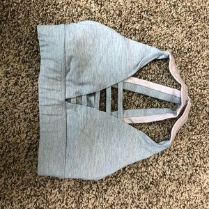 Pink and Grey Sports Bra